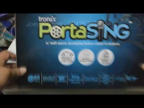 Tronix PortaSING Unboxing