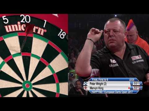 Peter Wright v Mervyn King - 2017 European Darts Open Final