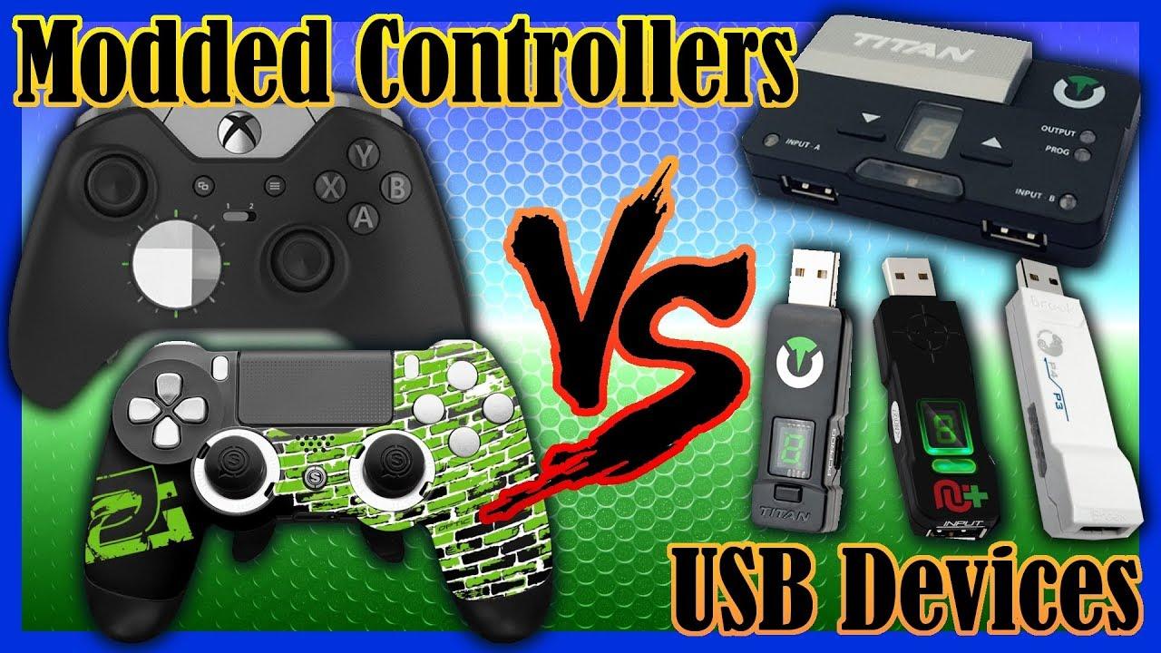 Modded Controllers vs USB Devices (Titan One, Titan Two, CronusMax Plus,  Brook Super Converter)