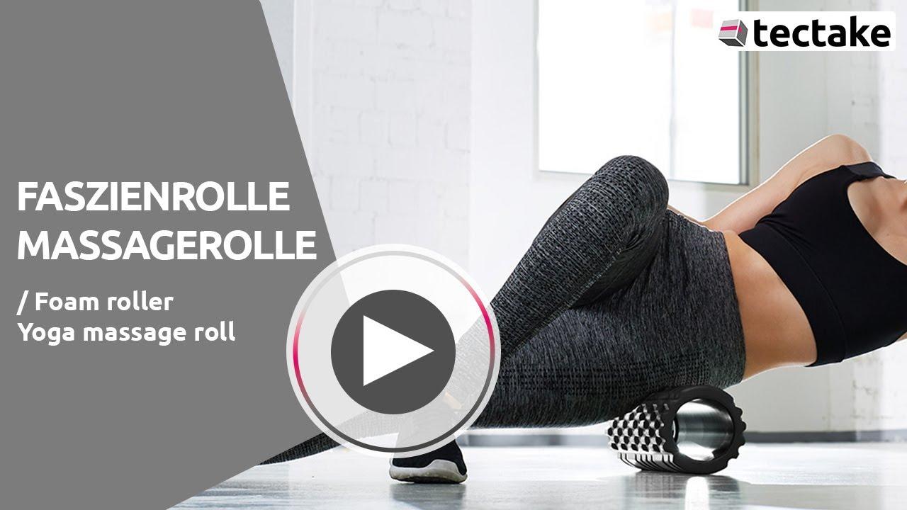 Fitfiu Fitness Roller-Pat Rouleau de Fitness en Mousse pour Massage Unisexe Bleu 33 x 14 cm