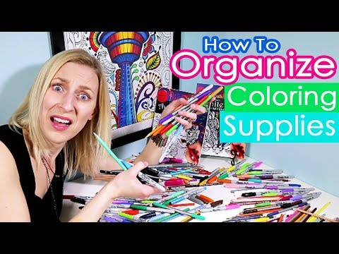 How to Organize Coloring & Art Supplies - Lots of Ideas - YouTube