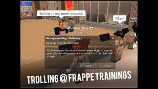 TROLLING BEI FRAPPE TRAININGS AUF ROBLOX | ROBLOX CAFE TROLLING