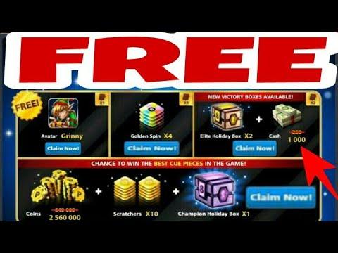 8 Ball Pool Free 1000 Cash, Boxes & Avatar || Claim Now
