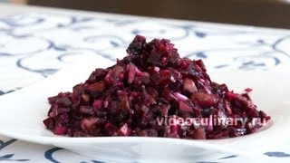 Свекольный салат с грибами - Рецепт Бабушки Эммы