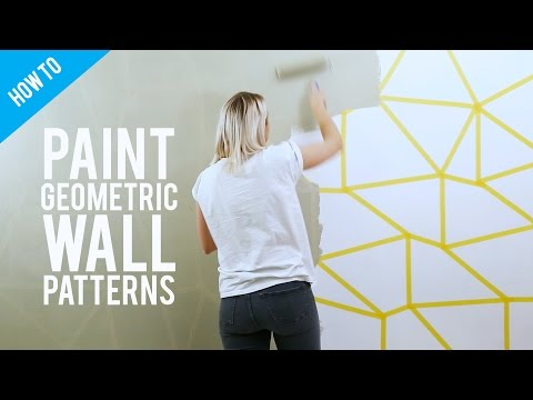 Diy Painted Geometric Wall Decor