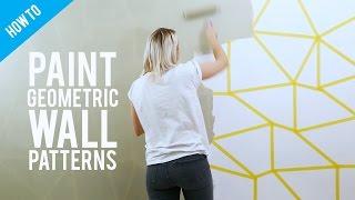 DIY painted geometric wall decor
