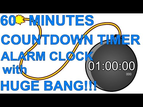 redigitt #060 60 Minutes Countdown Timer Alarm Clock with Huge BANG!!!