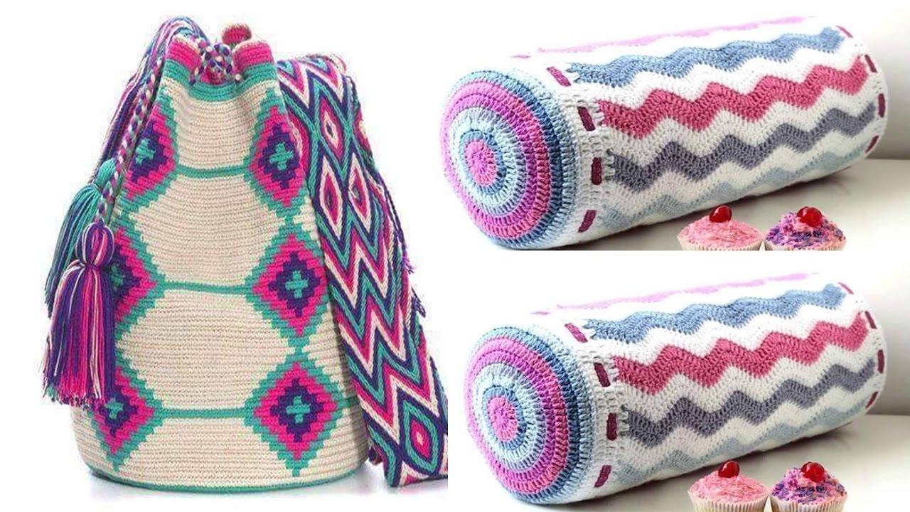 Cartucheras escolares 2017 aprende a tejer a crochet y - Cosas para hacer de ganchillo ...