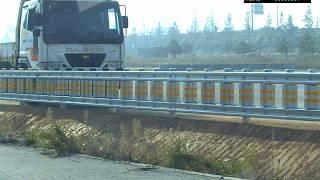 강재 롤러 방호울타리 - SB4 실물충돌시험(대형차)