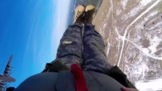 Paratrooper AIRBORNE INSERTION exercise! FIRST PERSON GoPro footage!