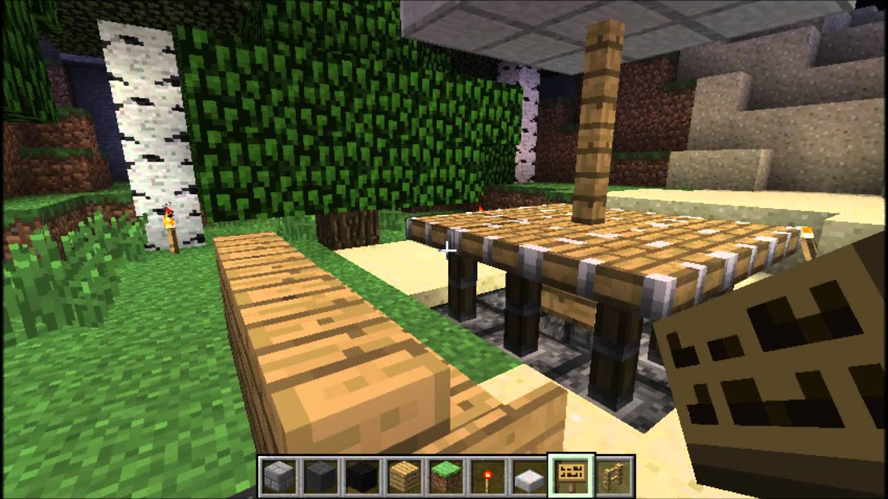 L 39 pisode d co moderne de minecraft youtube - Deco table exterieur ...