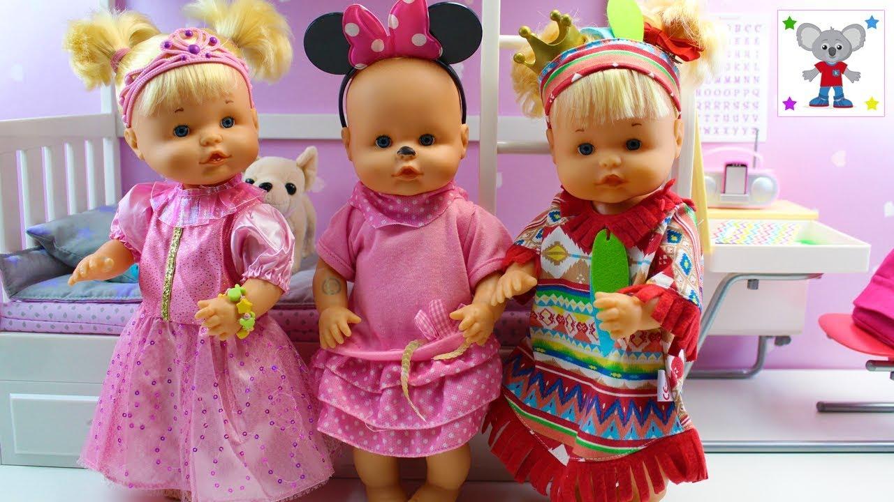 Nueva De Hermanitas Traviesas La Bebés Con Princesa En Fiesta Cuca Las Su Pijamada Habitación Nenuco Ygfy7vb6