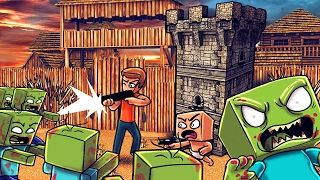 Minecraft | Who's Your Daddy? Zombie Horde Attacks Bunker! (BABIES LAST STAND)