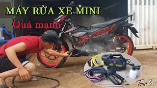 Test máy rửa xe mini KENTEX áp lực cao 1800w