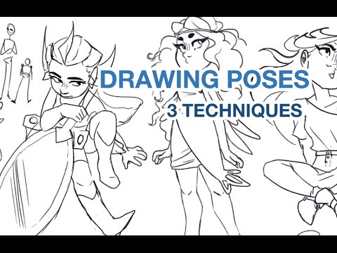 Dynamic poses for drawing