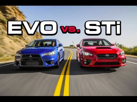 2016 subaru wrx sti vs mitsubishi lancer evolution x 0. Black Bedroom Furniture Sets. Home Design Ideas