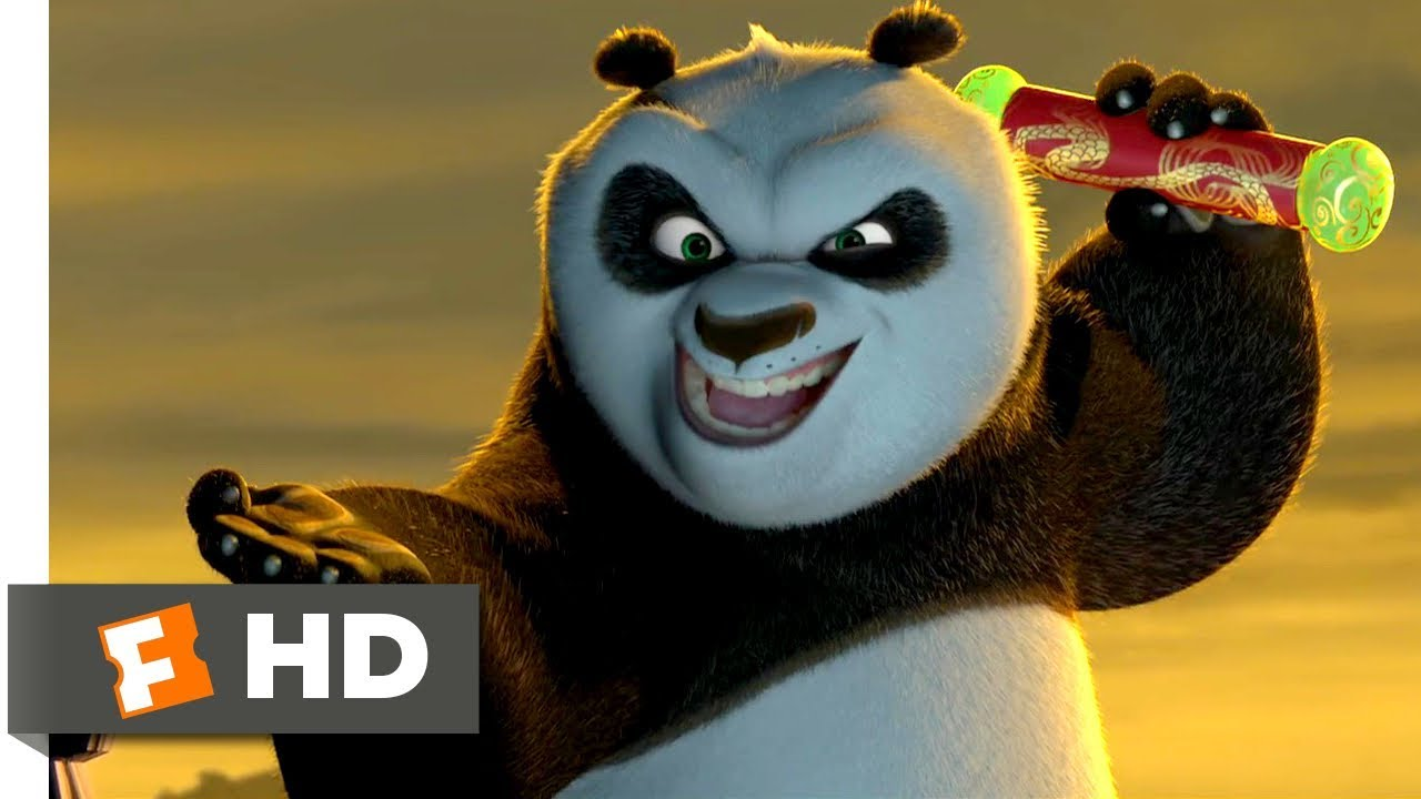 kung fu panda 2008 fight for the scroll