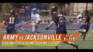 Army vs Jacksonville | Lax.com 2015 College Highlights