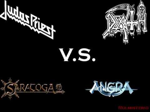 Judas Priest vs Death vs Saratoga vs Angra [Painkiller] cover vs original rulmisterio