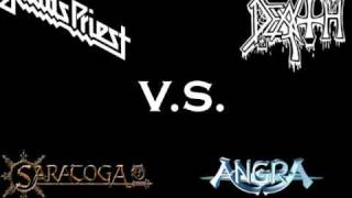 Judas Priest vs Death vs Saratoga vs Angra [Painkiller] cover vs original rulmisterio