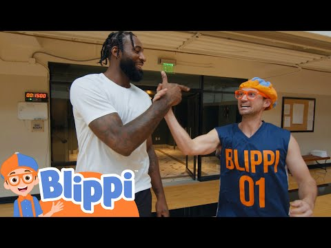 Blippi Plays Basketball With Andre Drummond! | Fun and Educational Videos For Kids