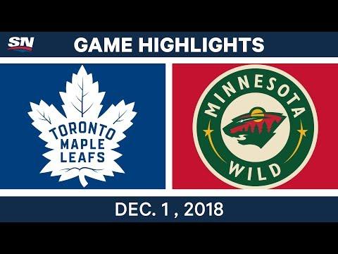 NHL Highlights | Maple Leafs vs. Wild - Dec 1, 2018