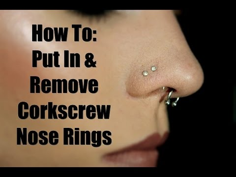 How To Put In Take Out Cork Screw Nose Studs Youtube
