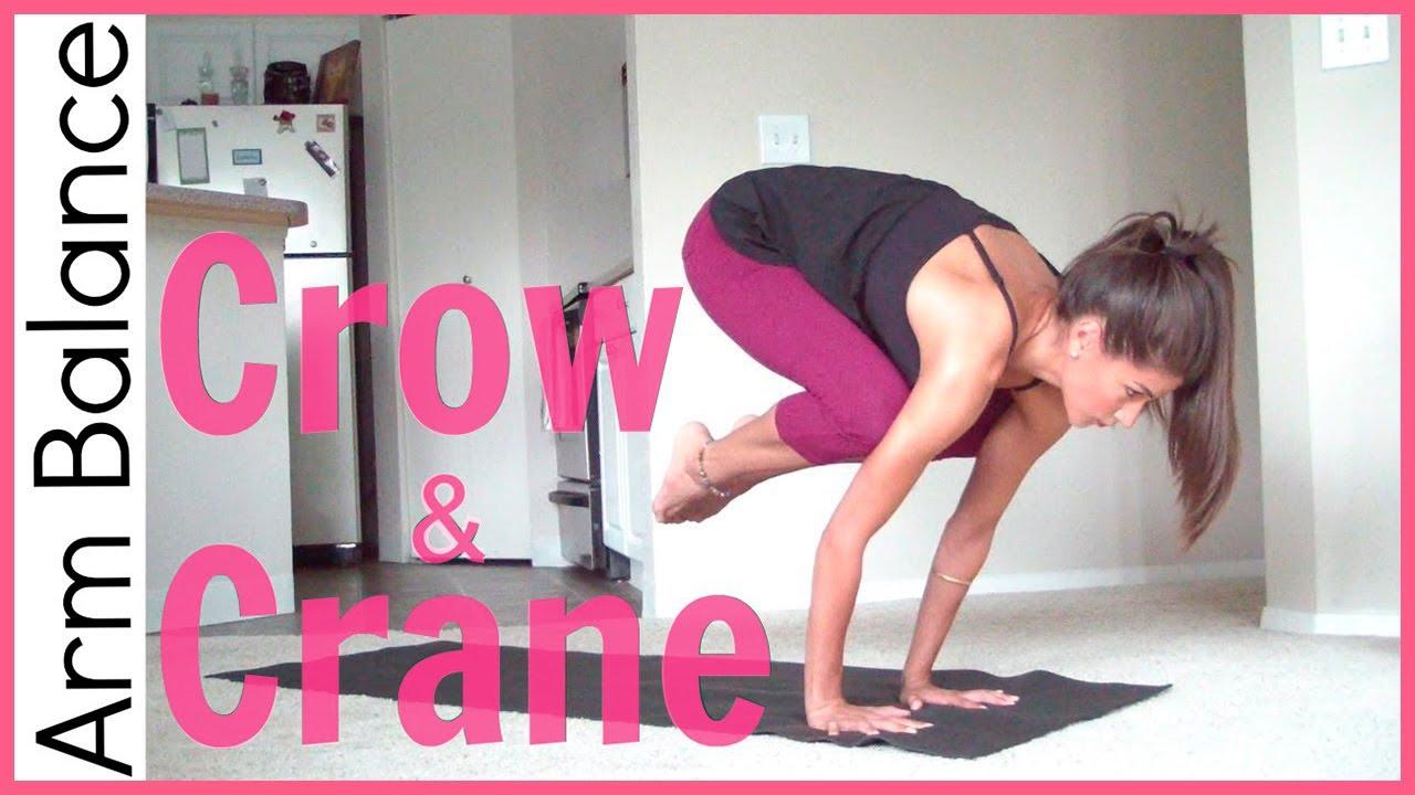 How To Crow Pose Amp Crane Pose Arm Balance Youtube