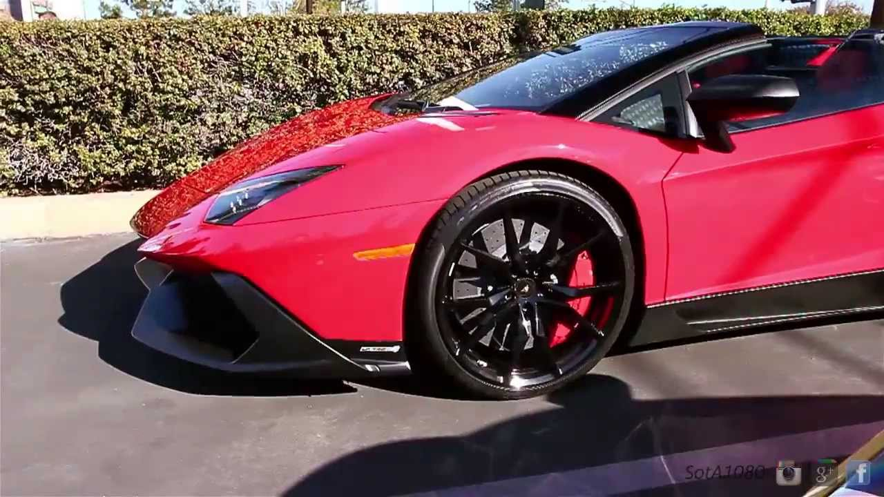rare red lamborghini aventador lp720 4 50th anniversary walk around start up take off. Black Bedroom Furniture Sets. Home Design Ideas