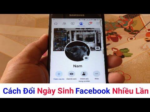 Cách đổi ngày sinh trên Facebook không giới hạn
