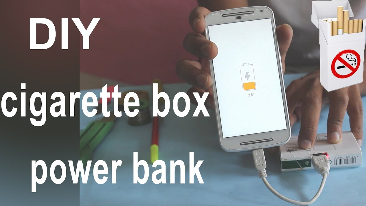 How To Make Cigarette Box Power Bank (Home Made) - YouTube