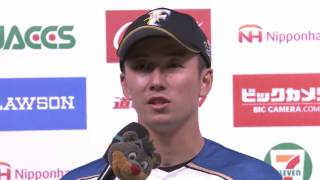 ファイターズ・斎藤佑投手・中田選手のヒーローインタビュー動画。 2017...