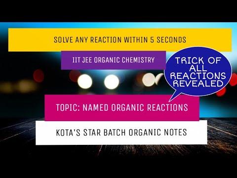 KOTA'S STAR BATCH ORGANIC NOTES     IIT JEE ORGANIC CHEMISTRY      REACTION  TRICKS