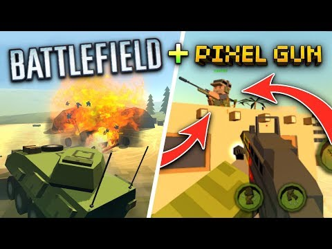 PIXEL GUN 3D + BATTLEFIELD?! | Crazy War (New AWESOME Mobile FPS Game 2017)
