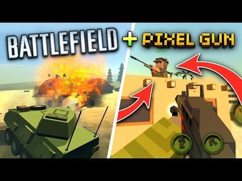 PIXEL GUN 3D + BATTLEFIELD?! | Crazy War (New AWESOME Mobile FPS Game 2017)