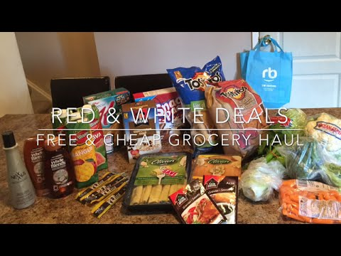 FREE & CHEAP GROCERY HAUL - RED & WHITE DEALS!