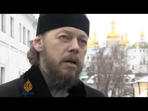Churches split over Ukraine protests