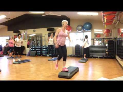 Basic Step Aerobics Exercise Class- Full Version