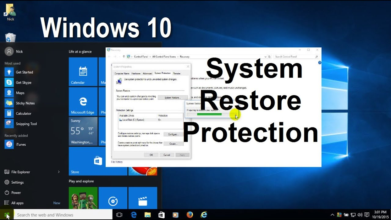 Windows 10  How To Enable  Create And Perform A System