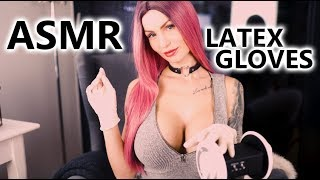 ASMR Sensitive Latex Experience - Latex Gloves Eargasm 3DIO- Relaxation and fall asleep