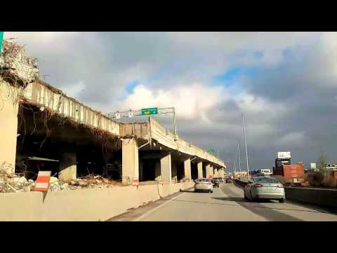 Montreal's Highway A Disaster Area