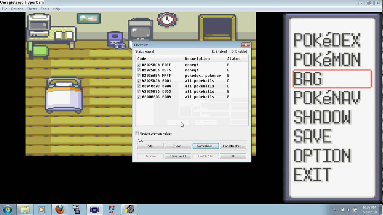 how to get surf in pokemon emerald cheat