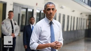 Obama Makes Historic Presidential Visit to Federal Prison | Mashable News