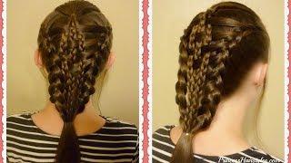 Checkerboard Dutch Braid Tutorial For Long Hair. Easier than it looks!