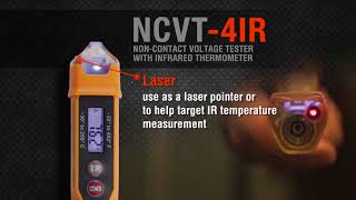 Klein Tools- NCVT-4IR Non Contact Voltage Tester w Infrared Thermometer