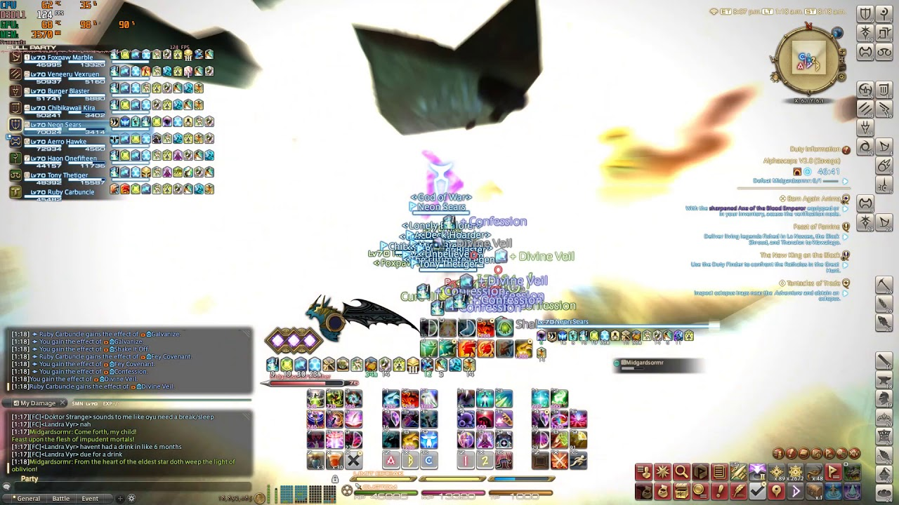 O10s day 5 pug clear, SMN PoV, clear at enrage