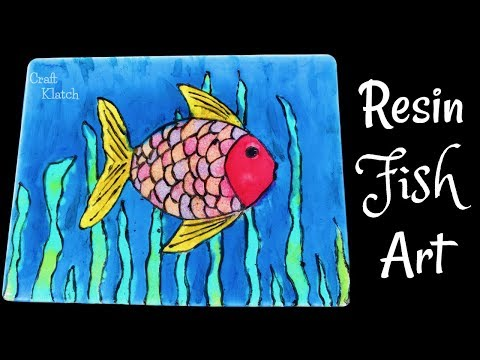 Resin Fish Painting | Resin Crafts | Craft Klatch