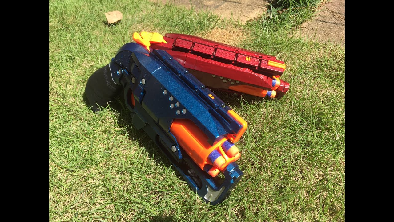 nerf mod fire and ice revolvers by drac youtube