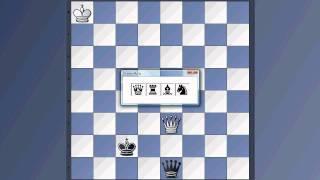 Wir lernen Schach 14 - Endspiel Dame vs Bauer auf der vorletzten Reihe