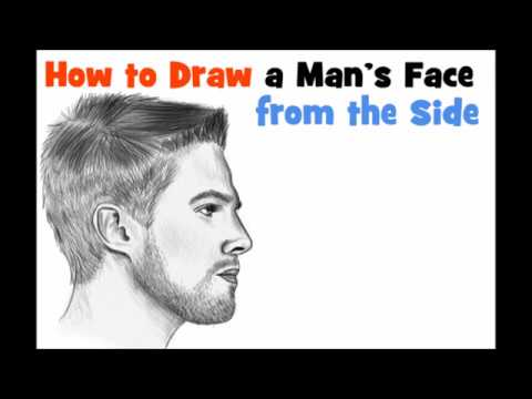 how to draw a side face step by step